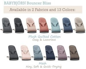 BabyBjorn Bliss Colors and Fabrics